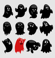 cartoon spooky ghost character illsutartion vector image vector image