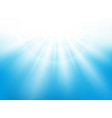 center sunburst light effect on nice blue sky vector image vector image