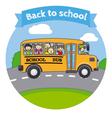 Children in a school bus vector image vector image