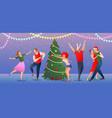 christmas flat gradient vector image vector image