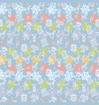 christmas or new year pattern with snowman vector image vector image