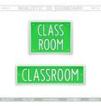 classroom creative signboard vector image