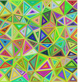 Colorful irregular triangle mosaic background vector image vector image