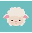 cute sheep animal farm isolated icon design vector image vector image
