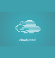 digital cloud logo vector image vector image
