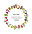 doodle smoothie in circle shape vector image vector image