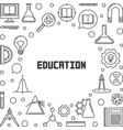 education concept minimal frame in thin vector image vector image