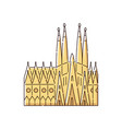 famous barcelona landmark building - sagrada vector image