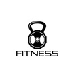 fitness weight design template vector image vector image