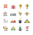 Flat Color Isolated Amusement Park Icons vector image vector image