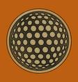flat shading style icon golf ball vector image