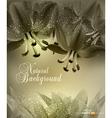 floral congratulatory background vector image vector image