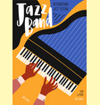 flyer or poster template for jazz festival vector image