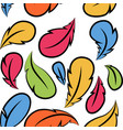 flying feathers seamless pattern design vector image vector image