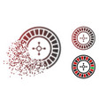 fragmented dotted halftone roulette icon vector image vector image