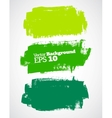 green brush strokes vector image vector image