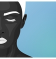 Half Face of Woman with Art Makeup vector image vector image