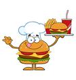 Hamburger Chef Cartoon vector image vector image