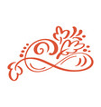 hand drawn floral autumn design elements isolated vector image vector image