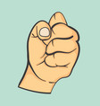 hand make fist gesture vector image