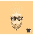 Hipster Skull Background vector image