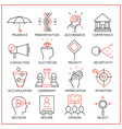 Human resource management icons - 4 vector image vector image
