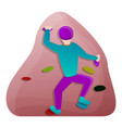 human wall climbing icon cartoon style vector image vector image