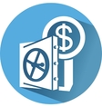 icon with safe and money save money vector image