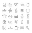 laundry service icons set outline style vector image