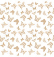 luxury seamless pattern with golden butterflies vector image vector image
