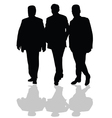 man in small group silhouette in black vector image vector image