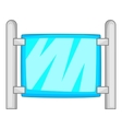 Modern fence icon cartoon style vector image vector image