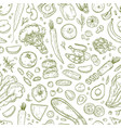 Monochrome seamless pattern with tasty wholesome