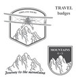 mountains and plain set of vintage airplane vector image vector image