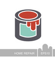 paint bucket icon vector image vector image
