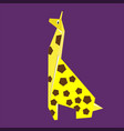 paper yellow giraffe vector image