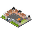 prison penitentiary concept 3d isometric view vector image vector image