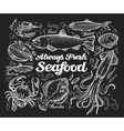 Seafood Hand drawn sketch of a fish trout vector image