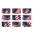 set america flag background collection waving vector image