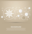 ship steering wheel icon on a brown background vector image vector image