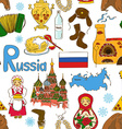 Sketch Russian seamless pattern vector image vector image