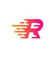 speed letter r logo icon design vector image