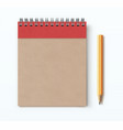 spiral brown notebook vector image vector image
