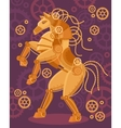 Steampunk Golden Horse Poster vector image vector image
