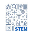 stem concept outline blue or vector image vector image