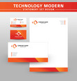 technology modern stationery set design vector image vector image