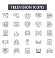 television line icons signs set linear vector image vector image