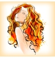 Watercolor painting of Lady vector image vector image