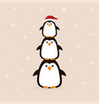 winter poster with penguin vector image