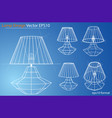 design and manufacture of home lamps vector image